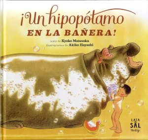 Un hipopótamo en la bañera