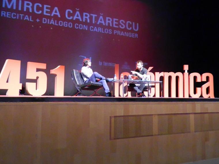 Conversación con Pranger. © Miguel Rodríguez Rodríguez